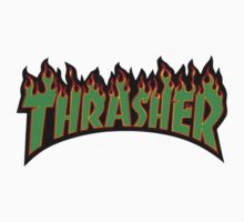 thrasher green logo One Piece - Long Sleeve