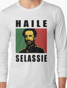 Haile Selassie BLK Long Sleeve T-Shirt