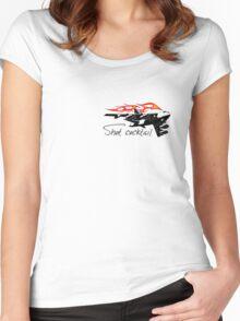 Cartoon bomber Women's Fitted Scoop T-Shirt