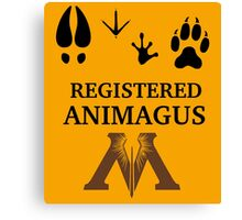 Registered Animagus - Foot Prints - Ministry of Magic Canvas Print
