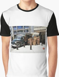 """1950 Chevy 3100 Truck """"Fruits & Vegetables"""" in Montevideo Graphic T-Shirt"""