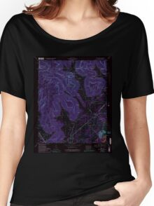 USGS TOPO Map Alabama AL Doran Cove 303699 1967 24000 Inverted Women's Relaxed Fit T-Shirt