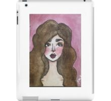"""Rosie"" Watercolor illustration iPad Case/Skin"