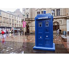 Glasgow, Scotland Blue police box  Photographic Print