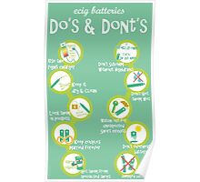 Vape Design Do's and dont's Batteries Poster