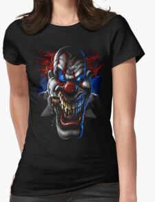 evil face Womens Fitted T-Shirt