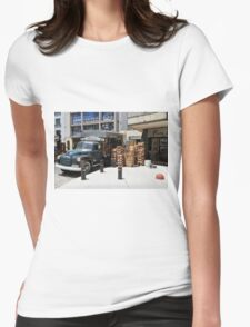 """1950 Chevy 3100 Truck """"Fruits & Vegetables"""" in Montevideo Womens Fitted T-Shirt"""