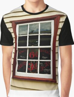 0052 The Barbers Shop Window Graphic T-Shirt