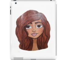 Girl with Brown Hair sticker iPad Case/Skin