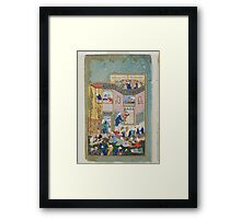 Sultan Muhammad, Allegory of Worldly and Otherworldly Drunkenness,  Framed Print