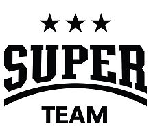 Super Team (Black) Photographic Print