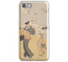 Suzuki Harunobu - The Jewel River of Plovers, a Famous Place in Mutsu Province iPhone Case/Skin