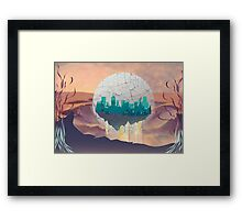 Bubble City Framed Print