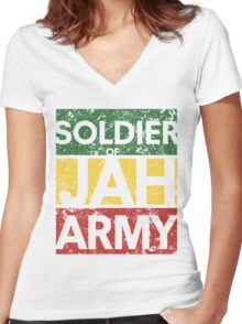 Soldier of JAH Army Women's Fitted V-Neck T-Shirt
