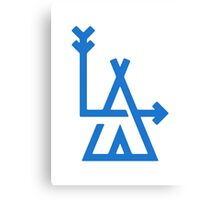 LA - Los Angeles - hipster design Canvas Print