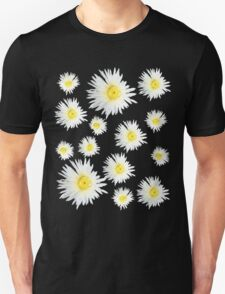 White Succulent Wildflower Unisex T-Shirt
