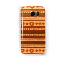 Tribal Pattern, Native American, Indian, Orange and Brown Samsung Galaxy Case/Skin
