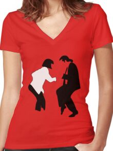 Uma & John Women's Fitted V-Neck T-Shirt