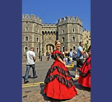 Windsor Castle, England. Girl in Victorian style.  Unisex T-Shirt