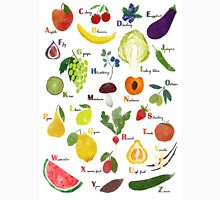 English alphabet with fruit and vegetables Classic T-Shirt