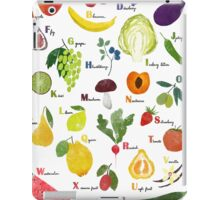 English alphabet with fruit and vegetables iPad Case/Skin
