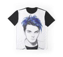 Gerard Way Blue Graphic T-Shirt