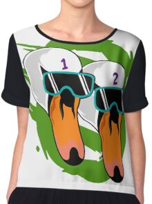 Hotline Miami 2 Wrong number Alex and Ash Chiffon Top