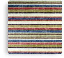 Tribal, Abstract Horizontal Stripes Patterns Canvas Print