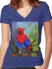 Rosie Women's Fitted V-Neck T-Shirt