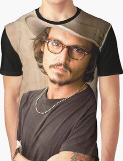 Cool Johnny Depp Graphic T-Shirt