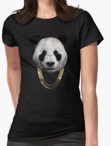 Panda_Large Womens Fitted T-Shirt