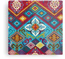 Tribal, Vibrant Color/Shapes Design Metal Print