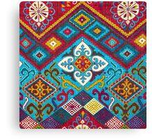 Tribal, Vibrant Color/Shapes Design Canvas Print