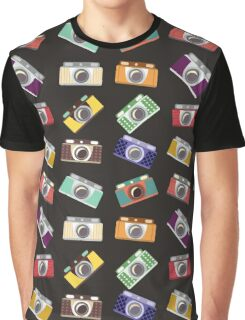 Abstract pattern. Cameras in flat design. Graphic T-Shirt