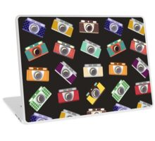 Abstract pattern. Cameras in flat design. Laptop Skin