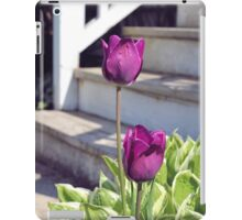 Tulips by the Steps iPad Case/Skin