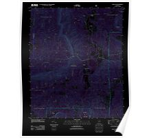 USGS TOPO Map Alabama AL Bulls Gap 20110921 TM Inverted Poster
