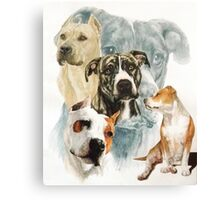 American Staffordshire Terrier /Ghost Canvas Print