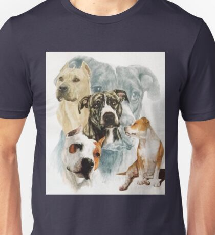 American Staffordshire Terrier /Ghost Unisex T-Shirt