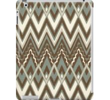 Tribal, Geometric Chevron Patterns Brown Hue iPad Case/Skin