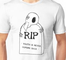 DEAD YOUTH Ⓡ / youth is never coming back ~ WHITE Ver. Unisex T-Shirt