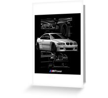 BMW E46 M POWER Greeting Card
