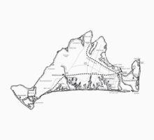 17th Century Martha's Vineyard Map One Piece - Long Sleeve