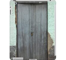 Gray Door in a Cement Wall iPad Case/Skin