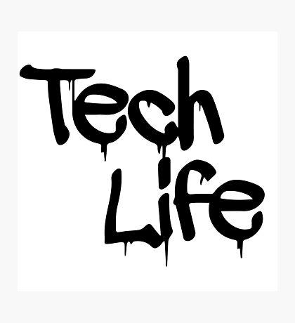 tech life black Photographic Print