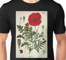 Köhler's Medizinal Pflanzen in naturgetreuen Abbildungen mit kurz erläuterndem Texte  Atlas zur Pharmacopoea 1883 1914 V3 017 Papaver Rhoeas Unisex T-Shirt