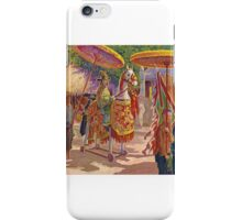 René Bassouls - 19TH CENTURY  - A PROCESSION IN INDO-CHINA iPhone Case/Skin