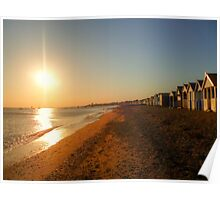 Beach Sunset HDR Poster