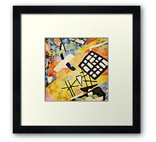 """Abstract-Contemporary """"Space Clutter""""  Framed Print"""