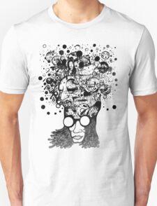 Bubbling Mind (Black) Unisex T-Shirt
